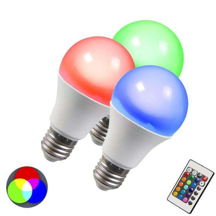 Λάμπα-LED-RGB-E27-3W-σετ-3