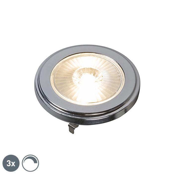 Σετ-3-G53-dimmable-AR111-LED-λαμπτήρες-10W-800LM-3000K