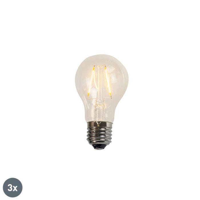 Σετ-3-λαμπτήρων-LED-νήματος-A60-2W-2200K-διαυγές