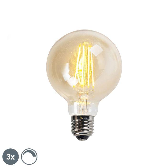 Σετ-3-λαμπτήρων-LED-με-δυνατότητα-φωτισμού-LED-E27-goldline-G95-5W-450LM-2200K