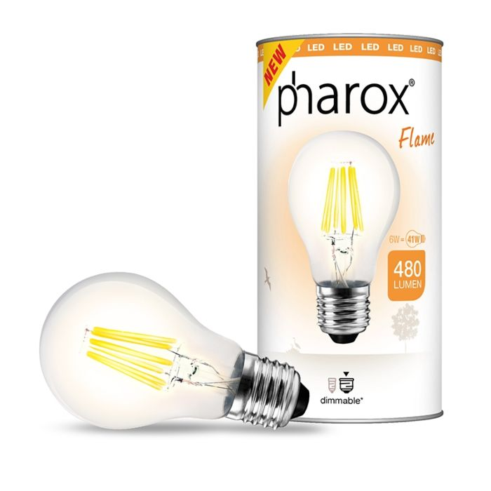 Λάμπα-LED-Pharox-Flame-E27-6W-480-lumens