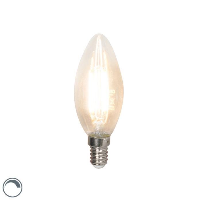 Λαμπτήρας-με-νήμα-LED-E14-240V-3,5W-350lm-B35-με-δυνατότητα-ρύθμισης