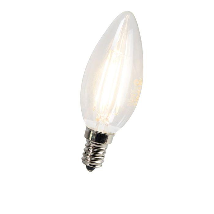 Φωτιστικό-λαμπτήρα-LED-με-κεριά-E14-3W-300-lumens