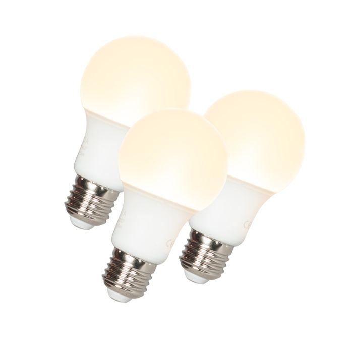 Σετ-3-λυχνιών-LED-A60-E27-9W-3000K