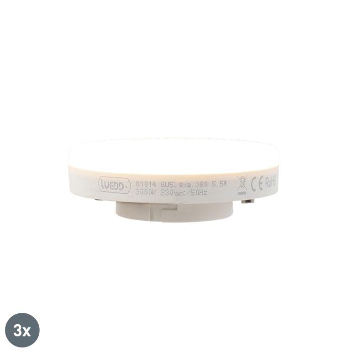 Σετ-3-λαμπτήρων-LED-GX53-5.5W-470-lumen-3000K