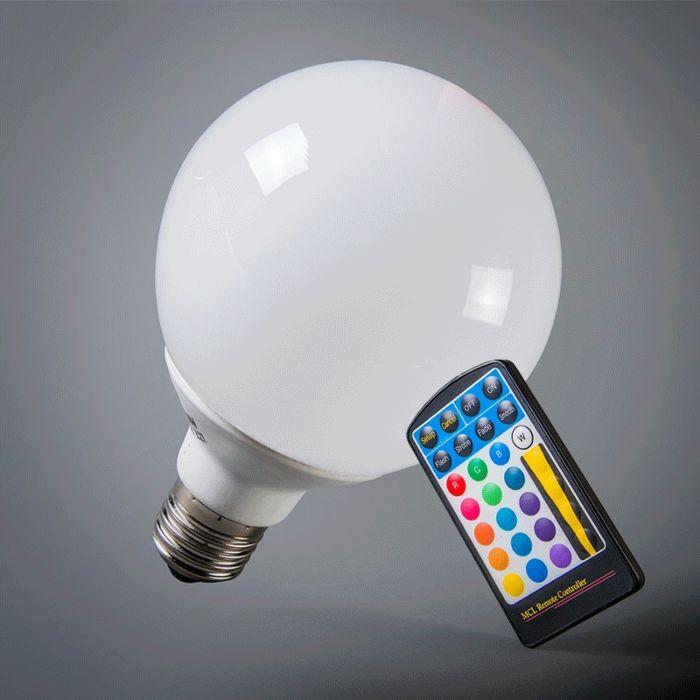 LED-globe-E27-RGB-95mm-με-τηλεχειριστήριο