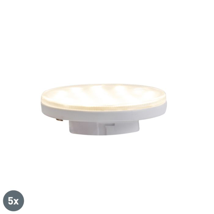 Σετ-5-GX53-3-step-dimmable-LED-lights-3W-350-lm-3000K