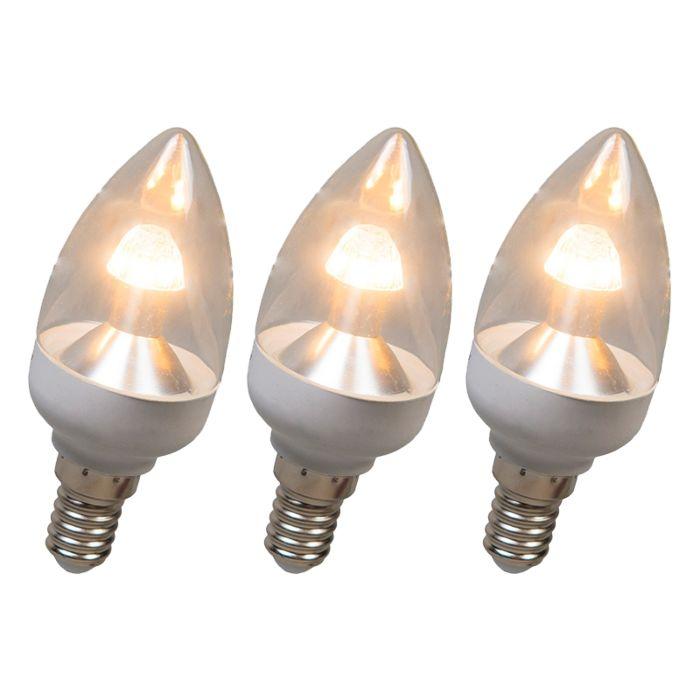 Λαμπτήρας-LED-κερί-E14-4W-250-lumen-ζεστό-λευκό-Σετ-με-δυνατότητα-ρύθμισης-3