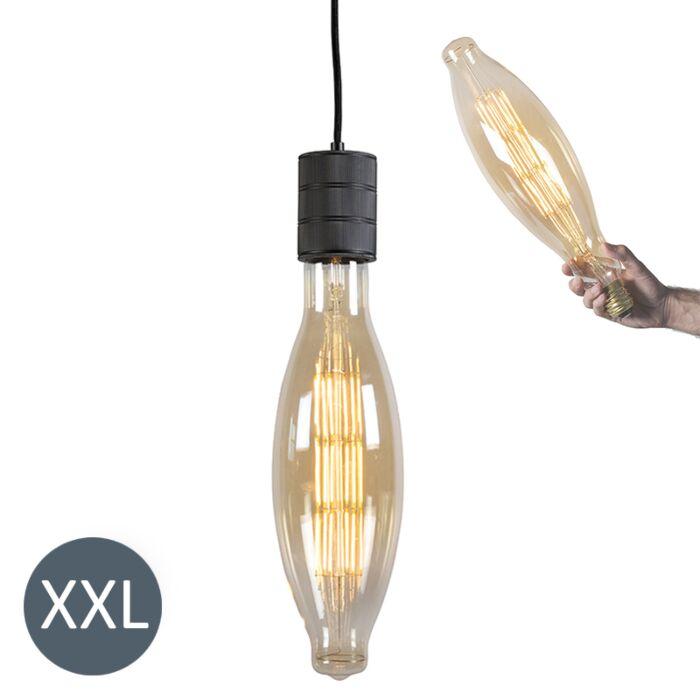 Κρεμαστή-λάμπα-Elips-μαύρο-με-λαμπτήρα-LED