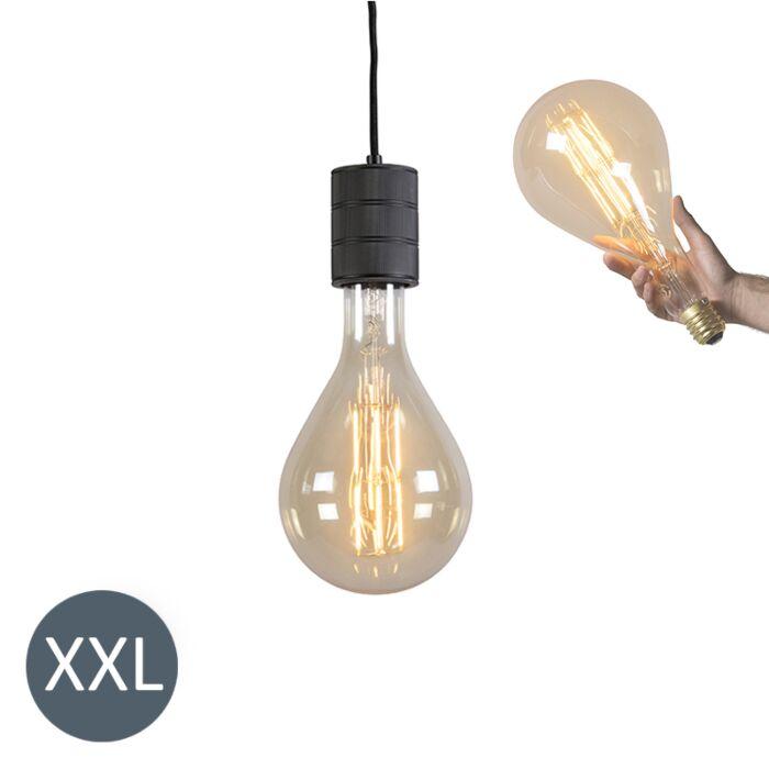 Κρεμαστή-λάμπα-Splash-black-με-λυχνία-LED-με-δυνατότητα-ρύθμισης