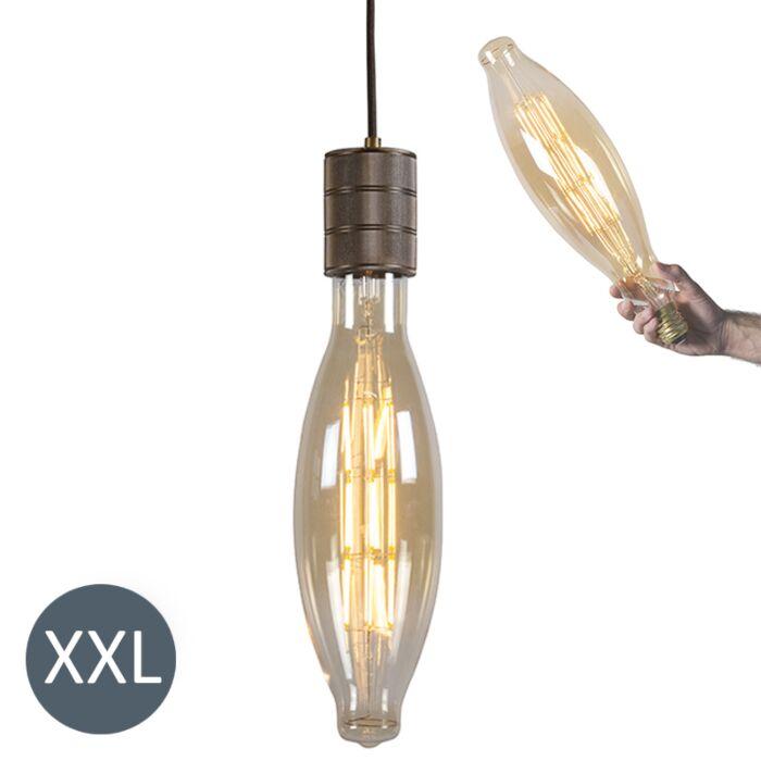 Κρεμαστή-λάμπα-Elips-μπρούντζο-με-λυχνία-LED-με-δυνατότητα-ρύθμισης