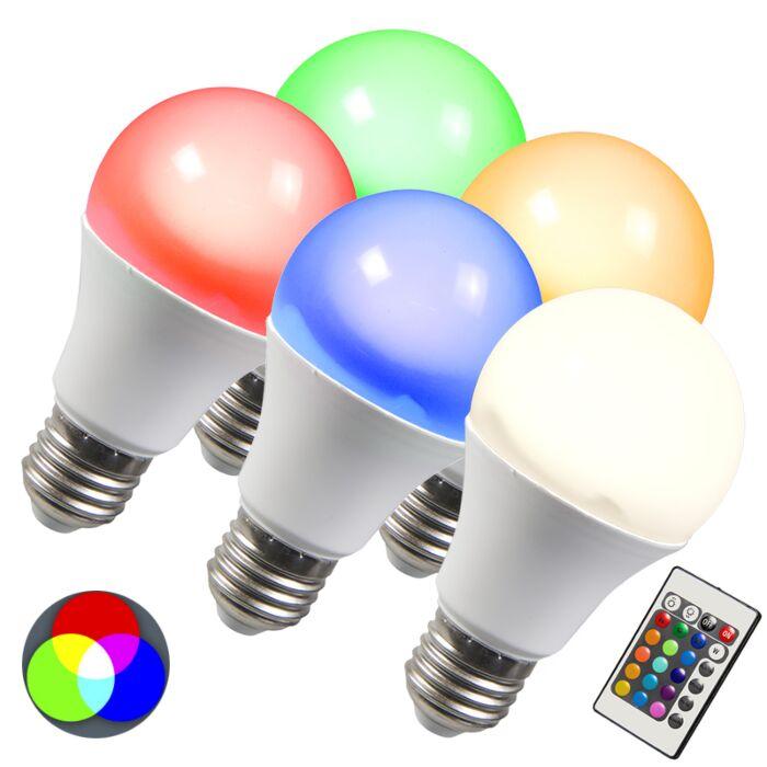 Λάμπα-LED-RGB-E27-3W-σετ-5