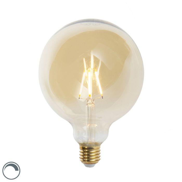 Λαμπτήρας-πυράκτωσης-E27-με-δυνατότητα-dimmable-LED-G125-goldline-360-lumen-2200K