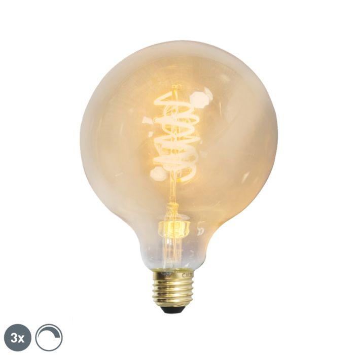 Σετ-3-E27-dimmable-LED-στριμμένο-νήμα-G125-goldline