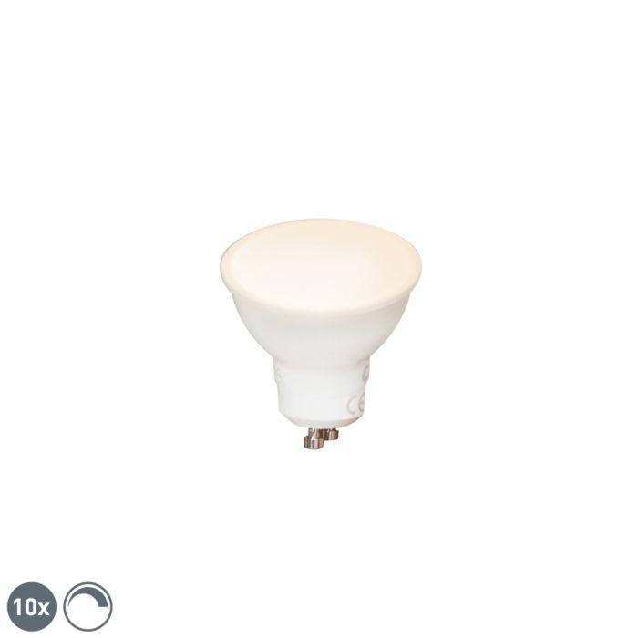 Σετ-των-10-GU10-dimmable-LED-lights-6W-450-lm-2700K