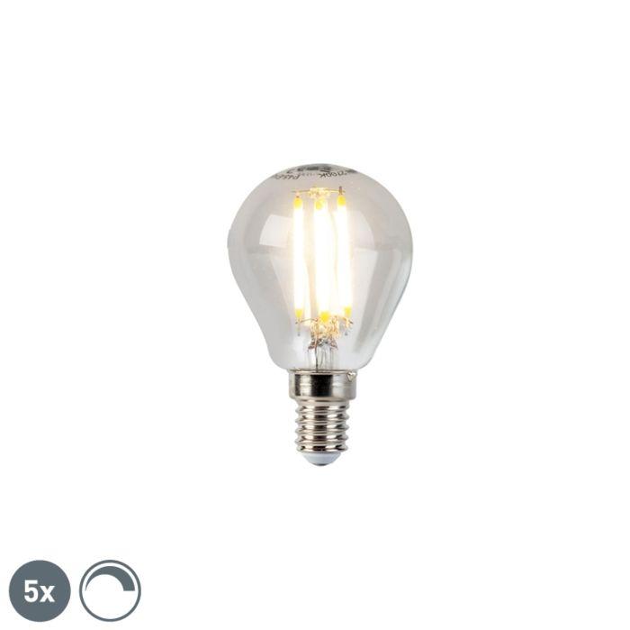 Σετ-5-λαμπτήρων-LED-με-σπινθηριστή-LED-E14-5m-470lm-2700K