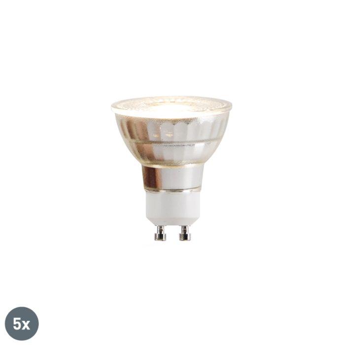 Σετ-5-λαμπτήρων-LED-GU10-COB-5W-380lm-2700K