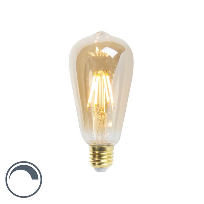 Λαμπτήρας-νήματος-LED-ST64-E27-5W-360-lumen-2200K-με-δυνατότητα-ρύθμισης