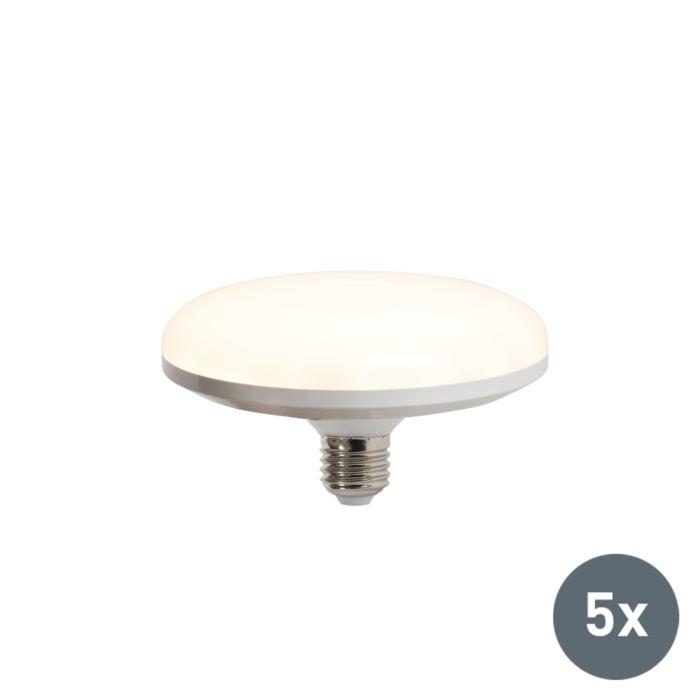 Σετ-5-λαμπτήρων-LED-UFO-E27-18W-ζεστό-λευκό