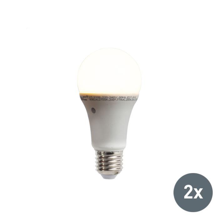 Σετ-2-λαμπτήρων-LED-με-ενσωματωμένο-αισθητήρα-σκούρου-φωτός-E27-9W-806-lumen-ζεστό-λευκό-2700K