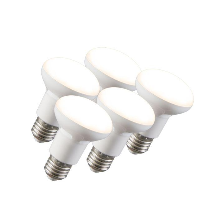 Σετ-5-ανακλαστήρων-LED-R63-E27-240V-8W-2700K-με-δυνατότητα-ρύθμισης