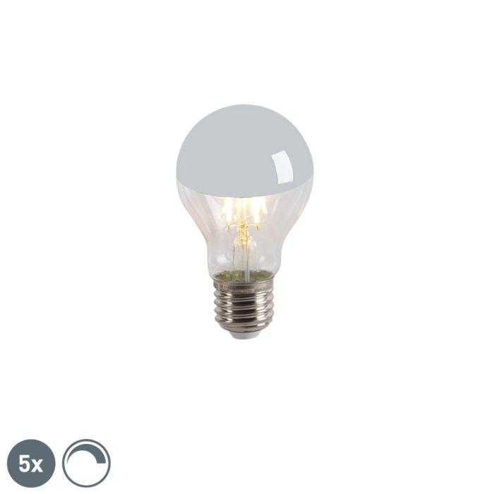 Σετ-5-LED-λαμπτήρα-πυράκτωσης-καθρέφτη-E27-240V-4W-300lm-A60-με-δυνατότητα-ρύθμισης