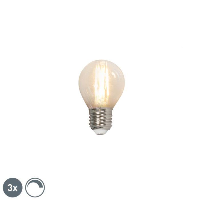 Σετ-3-λαμπτήρων-με-νήμα-LED-LED-E27-240V-3,5W-350lm-P45-με-δυνατότητα-ρύθμισης