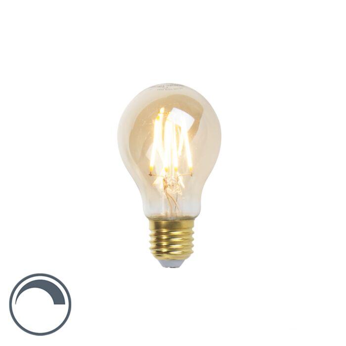 Λαμπτήρας-πυράκτωσης-LED-Goldline-E27-5W-360lm-A60-με-δυνατότητα-ρύθμισης