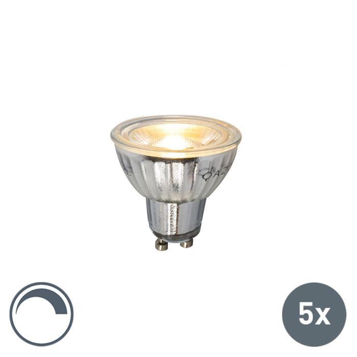 Σετ-λάμπας-LED-5-GU10-230V-5W-380LM-2700K-με-δυνατότητα-ρύθμισης