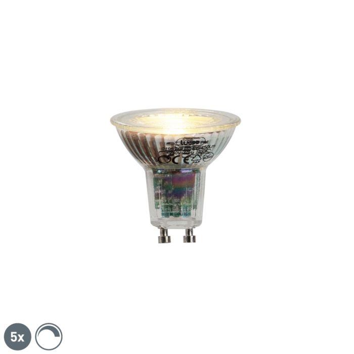 Σετ-5-GU10-LED-λαμπτήρα-6W-450lumen-2700K-dimmable