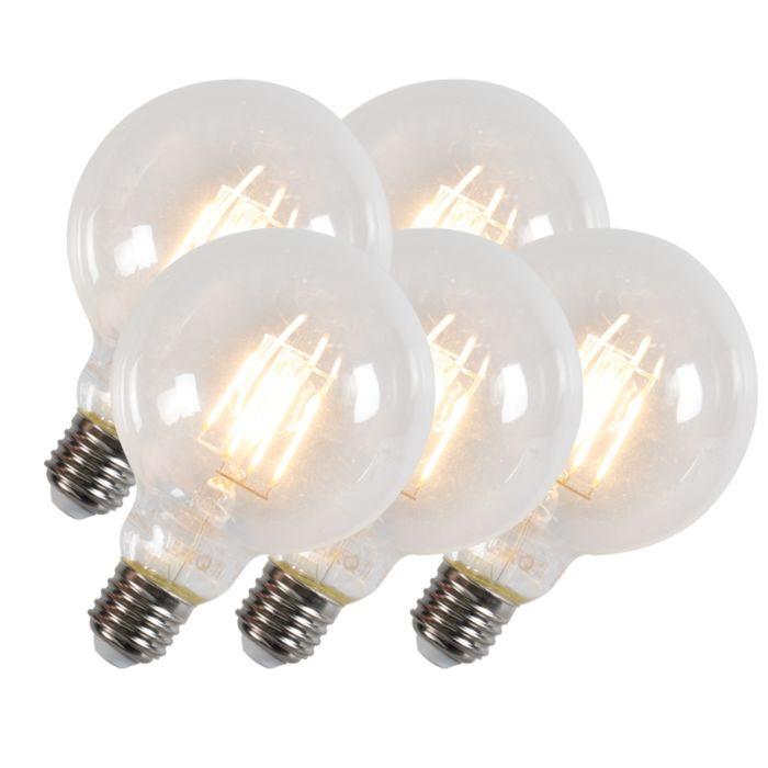 Σετ-5-LED-λαμπτήρα-πυράκτωσης-G95-E27-6W-600-lumens