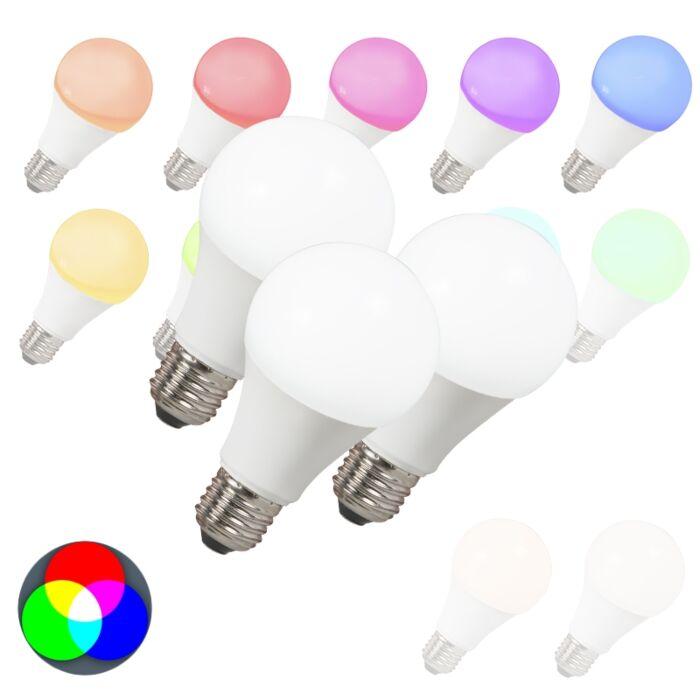 Σετ-3-λαμπτήρων-LED-E27-240V-7W-500lm-A60-Smart-Light