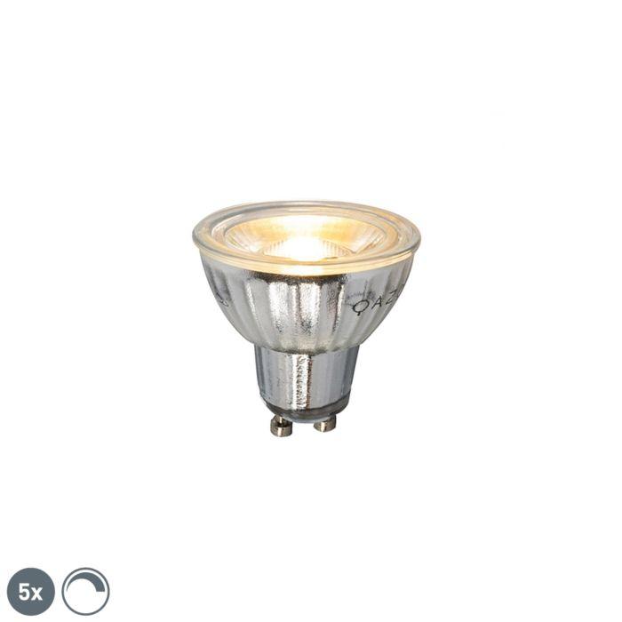 Σετ-5-GU10-dimmable-LED-lamp-7W-500LM-2700K