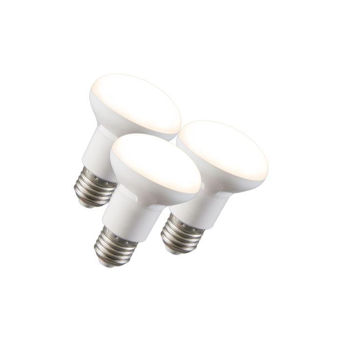 Σετ-3-ανακλαστήρων-LED-R63-E27-240V-8W-2700K-με-δυνατότητα-ρύθμισης