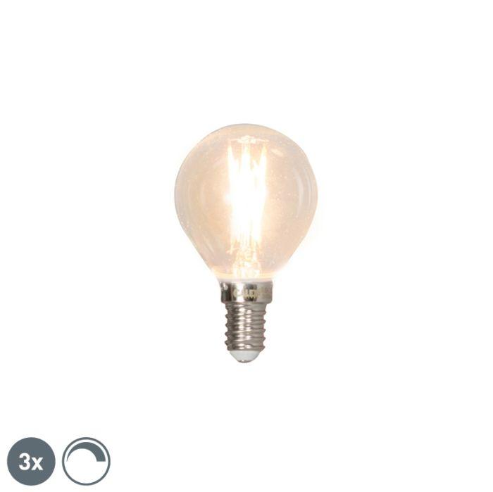 Σετ-3-Ε14-λαμπτήρων-με-νήματα-LED-με-δυνατότητα-φωτισμού-3W-350lm-2700K