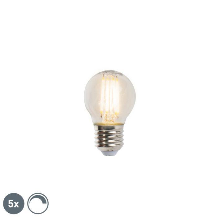 Σετ-5-λαμπών-φωτός-νήματος-LED-με-δυνατότητα-διαμόρφωσης-E27-5W-470lm-2700K