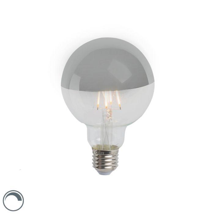 LED-λαμπτήρας-πυράκτωσης-καθρέφτης-ασημί-E27-240V-4W-280lm-2300K-G95-με-δυνατότητα-ρύθμισης
