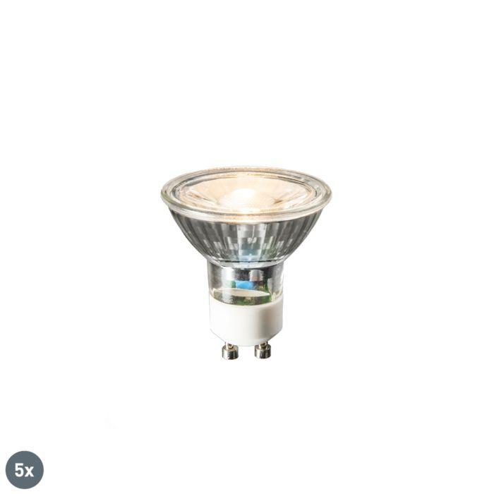 Σετ-5-λαμπτήρων-LED-GU10-COB-3W-230lm-2700K