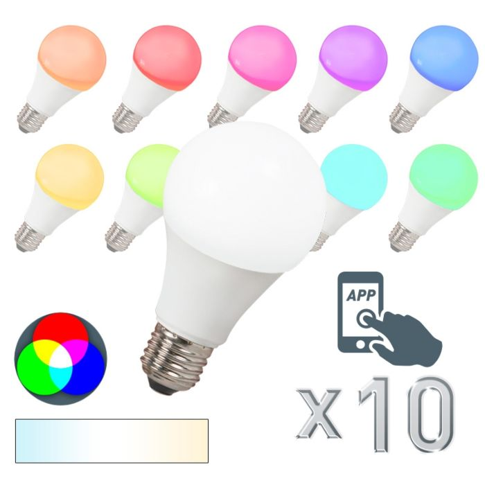 Σετ-10-λαμπτήρων-LED-E27-240V-7W-500lm-A60-Smart-Light