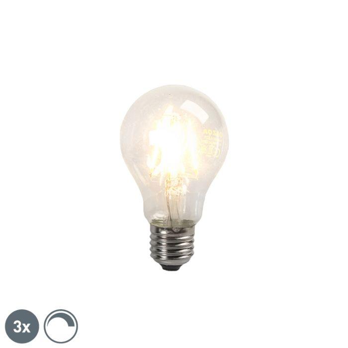 Σετ-3-LED-λαμπτήρα-πυράκτωσης-E27-4W-390lm-με-δυνατότητα-ρύθμισης