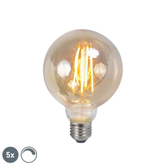 Σετ-5-λαμπών-καπνού-νήματος-LED-E27-με-δυνατότητα-ρύθμισης-φωτισμού-5W-450lm-2200K