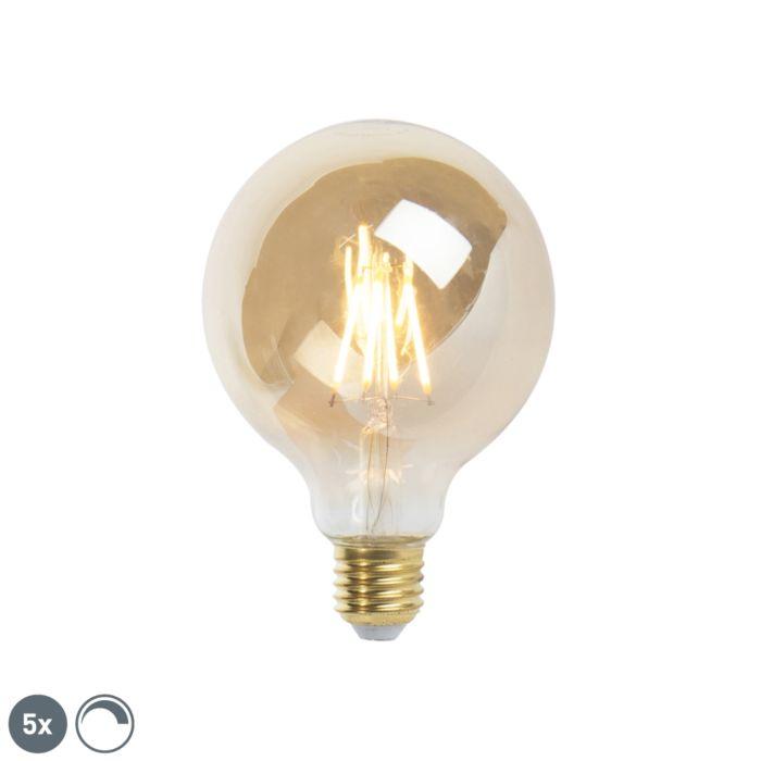 Σετ-5-E27-με-ρυθμιζόμενο-λαμπτήρα-πυράκτωσης-LED-9,5-cm-5W-360-lumen-2200K