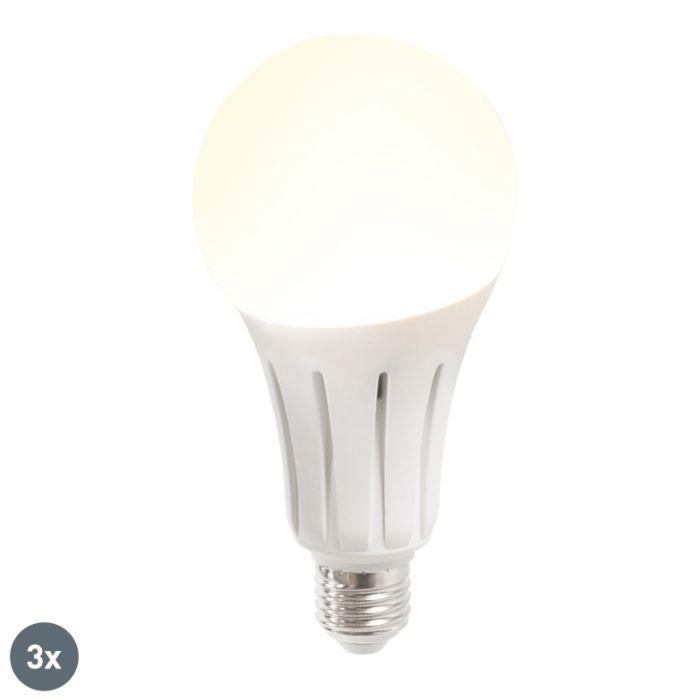 Σετ-3-λυχνιών-LED-B60-18W-E27-ζεστό-λευκό