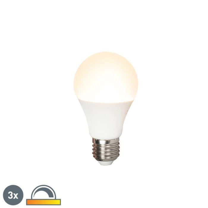 Σετ-3-λυχνιών-LED-E27-240V-7W-510lm-A60-με-δυνατότητα-ρύθμισης
