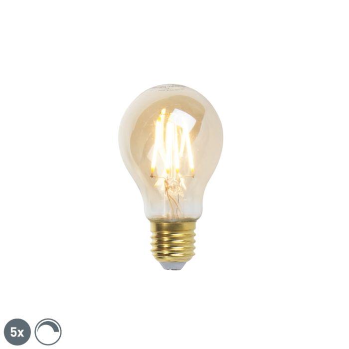 Σετ-5-λαμπών-πυράκτωσης-LED-με-δυνατότητα-dimmable-LED-goldline-360lm-2200K