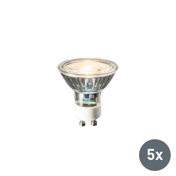 Σετ-5-λαμπτήρων-LED-GU10-240V-3W-230lm-ζεστό-λευκό