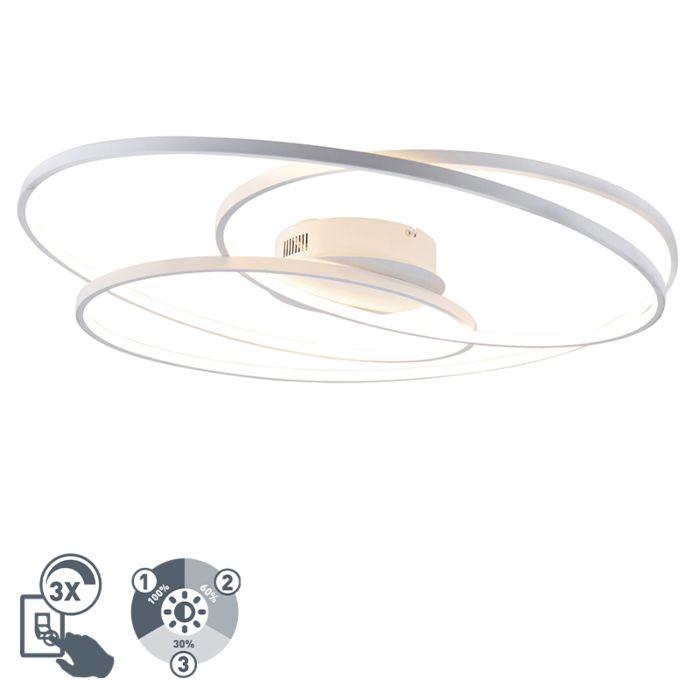 Λευκή-λυχνία-οροφής-80-εκ.-Με-LED-3-βολών---Rowin