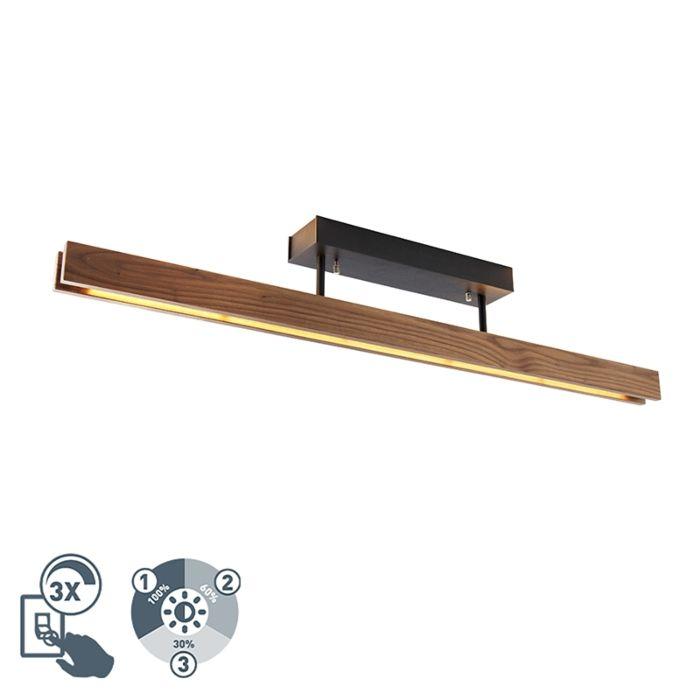 Ξύλινη-λυχνία-οροφής-με-φωτιστικό-LED-3-μέτρων---Holz