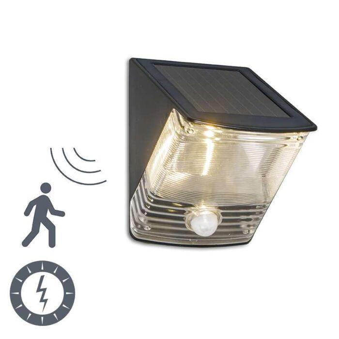 Λαμπτήρας-εξωτερικού-χώρου-Σκούρο-LED-με-ανιχνευτή-ηλιακής-κίνησης