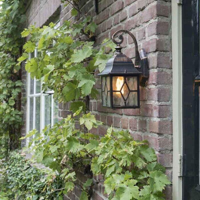 Ρομαντικό-υπαίθριο-χάλκινο-φανάρι-τοίχου---Λονδίνο